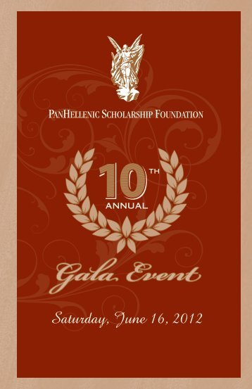 Gala Event - PanHellenic Scholarship Foundation