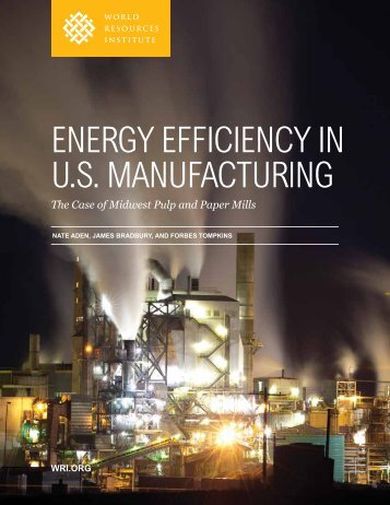 EnErgy EfficiEncy in U.S. ManUfactUring - World Resources Institute