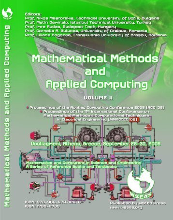 Mathematical methods and - Wseas.us