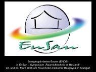 3070 KB - Energetische Sanierung der Bausubstanz - EnSan