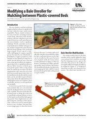 AEN-117: Modifying a Bale Unroller for Mulching between Plastic ...