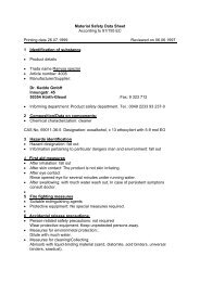 Material Safety Data Sheet According to 91/155 EC ... - Wendisch-PS