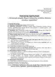 Nolikums - RCK LV