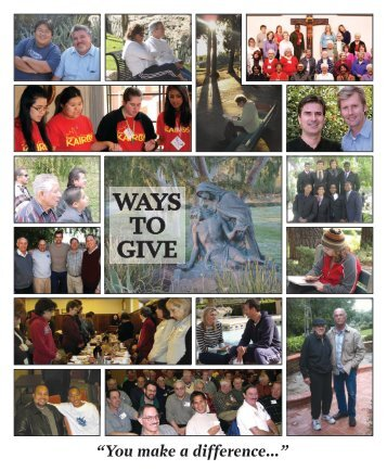 Review Ways to Give Brochure - The Passionists of Holy Cross ...