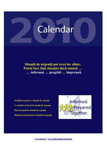 Calendar educativ pe anul 2010 - IGSU