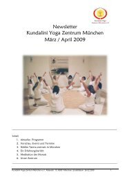 Newsletter März-April 2009 - Kundalini Yoga Zentrum München