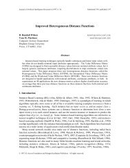 Improved Heterogeneous Distance Functions - Neural Network and ...