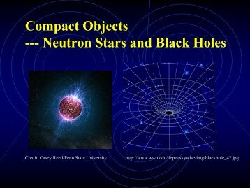 13. Neutron Stars and Black Holes
