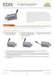 EDIX Dual Key Access Interlock - Castell