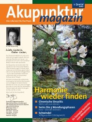 Akupunkturmagazin 2. Quartal 2010 - Traditionelle Chinesische ...