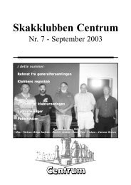Klubblad nr. 7/2003 - Skakklubben Centrum