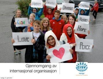 Gjennomgang av internasjonal organisasjon