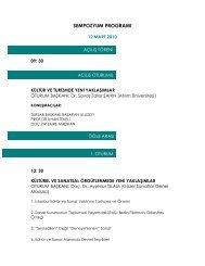 sempozyum programı - Kültür ve Turizm Bakanlığı