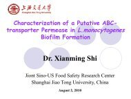 Dr. Xianming Shi - Center for Food Safety Engineering