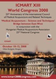 ICMART Congress 2008 Programme - International Council of ...