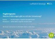 Fluglärmgesetz: Welche Erfahrungen gibt es mit der Umsetzung? - BDL