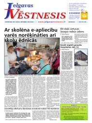 2013. gada 5. septembris Nr.36(323) - Jelgavas Vēstnesis