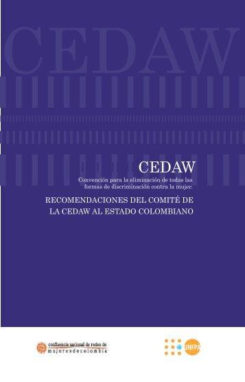 recomendaciones cedaw para colombia