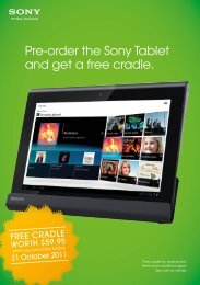 Pre-order the Sony Tablet and get a free cradle. - Sony New Zealand