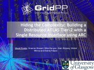 Hiding the Complexity: Building a Distributed ATLAS Tier-2 ... - GridPP