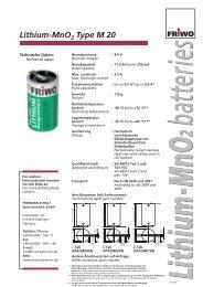 Lithium-MnO2 Type M 20 - Battery Specialties
