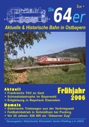 Vorwort - OstBayernBahn.de