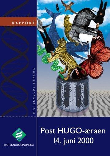 Post HUGO-æraen 14. juni 2000 - Bioteknologinemnda