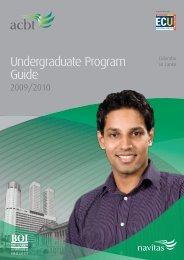 Undergraduate Program Guide - Navitas