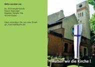 Retten wir die Kirche ! - Kirche-haarzopf.de