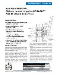 Modelo RBS/RBSA/RSL Sistema de dos pulgadas COSASCO Kits ...