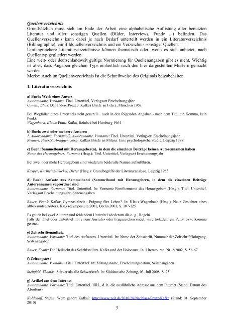 Zitate Und Literaturverze