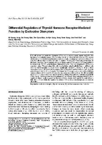Differential Regulation of Thyroid Hormone Receptor-Mediated ...