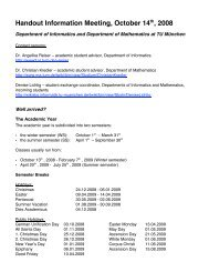 Handout Information Meeting, October 14th, 2008 - TUM