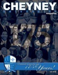 175th Anniversary Issue- Fall 2012 - Cheyney University of ...