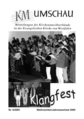 KM-Umschau 2005/4 - Kirchenmusik Westfalen