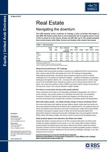 Equity   United Arab Emirates   Construction & Materials