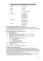 Protokoll 27 / 2008 - Kreisjugendring Starnberg - Landkreis Starnberg
