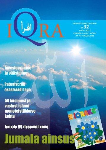 IQRA EESTI MOSLEMITE KUUKIRI NR 32 APRILL 2012 ... - Islam