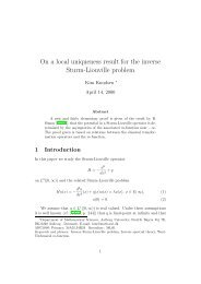 On a local uniqueness result for the inverse Sturm-Liouville problem