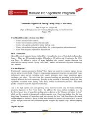 Case Study AD-6 - Manure Management - Cornell University