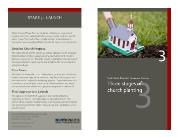 Three stages of church planting - North Pacific District