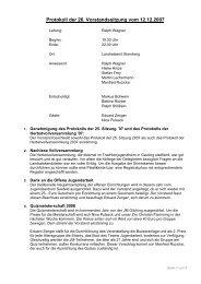 Protokoll 26 / 2007 - Landkreis Starnberg