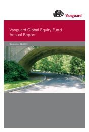 Vanguard Global Equity Fund Annual Report September 30, 2009