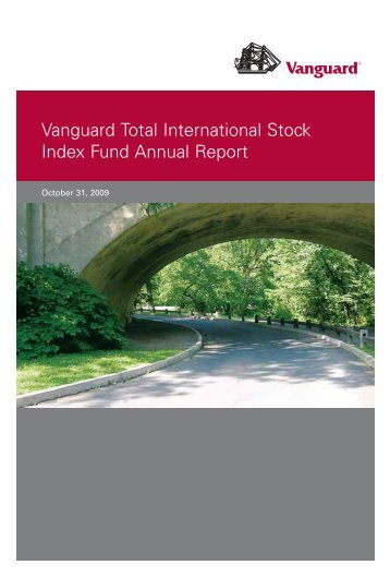 Vanguard Total International Stock Index Fund Annual Report ...