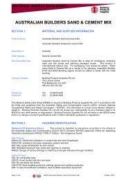 material safety data sheet australian builders sand & cement mix