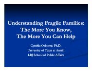 U d t di F il F ili Understanding Fragile Families: The ... - Texas WIC