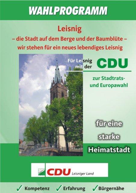 Wahlprogramm - Textform (838 kb) - CDU Leisnig