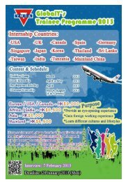 YMCA Global Y's Trainee Programme 2013 - The University of Hong ...