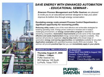 seminar flyer - Emerson Process Experts