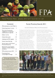 FPN vol 11 no 2 January 2012 - The Forest Practices Authority